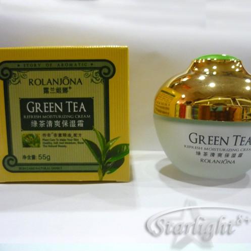 Овлажняващ и освежаващ крем със зелен чай